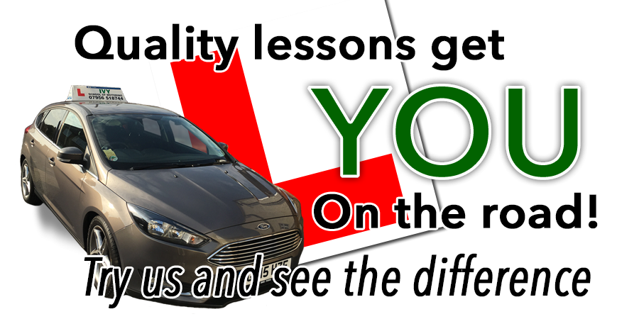 Quality lessons get you on the road - Try us and see the difference!